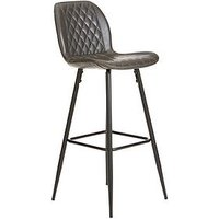 Product photograph showing Alfie Faux Leather Bar Stool