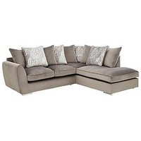 Product photograph showing Aspire Fabric Right Hand Scatter Back Corner Chaise Sofa