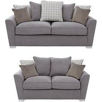 Product photograph showing Links Fabric 3 Seater 2 Seater Scatter Back Sofa Set