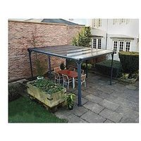 Product photograph showing Palram Milano 4300 Garden Gazebo - Grey