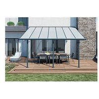 Product photograph showing Palram Palram Sierra Patio Cover 3x4 25 Grey Clear