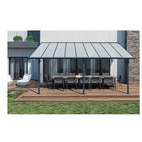 Product photograph showing Palram Palram Sierra Patio Cover 3x5 46 Grey Clear
