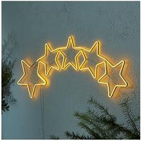 Product photograph showing Indoor Outdoor Neon Stars Rope Light
