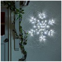 Product photograph showing Indoor Outdoor Acrylic Hanging Snowflake Light
