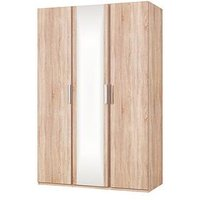 Product photograph showing Waterford Part Assembled 3 Door Mirrored Wardrobe