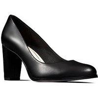 Clarks Kaylin Cara Heeled Shoes - Black
