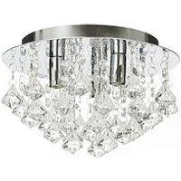 Product photograph showing Maya Diamond Flush Ceiling Light