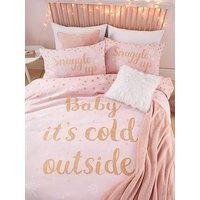 Product photograph showing Catherine Lansfield Baby It Rsquo S Cold Outside Christmas Duvet Cover Set