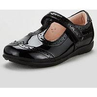 Lelli Kelly Wide Fit Jennette T-Bar School Shoes - Black Pat