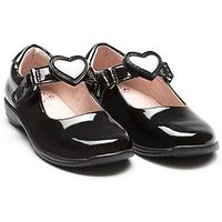 Lelli Kelly Wide Fit Colourissima Heart Dolly School Shoes -