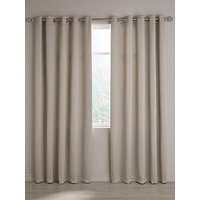 Product photograph showing Berlin Blackout Eyelet Curtains 90x72