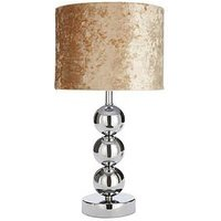 Product photograph showing Lottie Table Lamp - Champagne