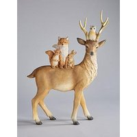 Product photograph showing Gisela Graham Reindeer And Friends Ornament Christmas Decoration