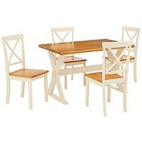 Product photograph showing New Axxon 120 Cm Dining Table 4 Chairs