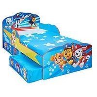 Product photograph showing Paw Patrol Toddler Bed With Storage Drawers By Hellohome