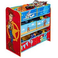 Product photograph showing Toy Story Kids Bedroom Storage Unit With 6 Bins By Hellohome