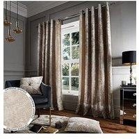 Product photograph showing Catherine Lansfield Crushed Velvet Eyelet Curtains