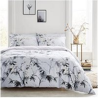 Product photograph showing Bianca Cottonsoft Bianca Kyoto 100 Cotton Duvet Cover Set