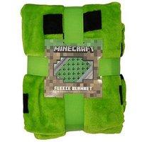 Product photograph showing Minecraft Emerald Fleece Blanket