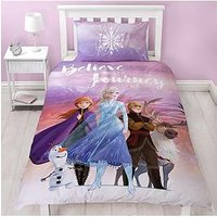 Product photograph showing Disney Frozen Journey Single Duvet Cover Set