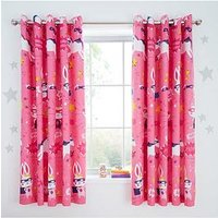Product photograph showing Catherine Lansfield Super Bunny Eyelet Curtains
