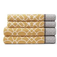 Product photograph showing Bianca Cottonsoft Cassia Border 4-piece 100 Cotton Towel Bale