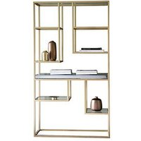 Product photograph showing Hudson Living Pippard Open Display Unit - Champagne