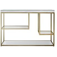 Product photograph showing Hudson Living Pippard Console Table - Champagne
