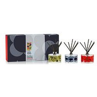 Product photograph showing Orla Kiely House House Midnight Shadow Flower Mini Diffuser Set