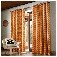 Product photograph showing Orla Kiely House Linear Stem Eyelet Curtains