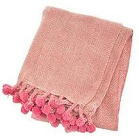 Product photograph showing Sass Belle Nevada Pink Blanket Throw