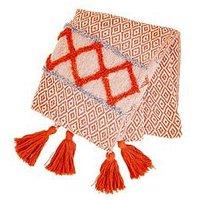 Product photograph showing Sass Belle Scandi Boho Stripe Blanket Throw