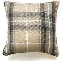 Product photograph showing Catherine Lansfield Brushed Heritage Check Cushion