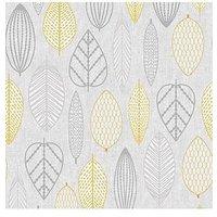 Product photograph showing Superfresco Easy Scandi Leaf Wallpaper Ndash Yellow