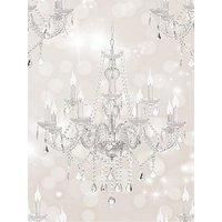 Product photograph showing Sublime Chandelier Beige Wallpaper