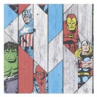 Product photograph showing Marvel Wood Panel Wallpaper