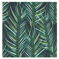 Product photograph showing Superfresco Easy Palm Leaves Green Wallpaper