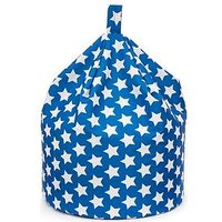Product photograph showing Kaikoo Kids Cotton Beanbag Blue Star