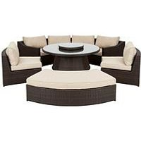Product photograph showing San Remo 6 Piece Dining Set With Round Table