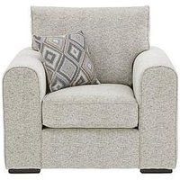 Product photograph showing Lewis Fabric Armchair