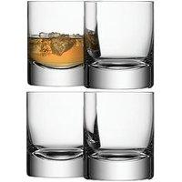 Product photograph showing Lsa International Bar Handmade Mixer Tumbler Glasses Ndash Set Of 4