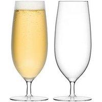 Product photograph showing Lsa International Bar Handmade Pilsner Glasses Ndash Set Of 2