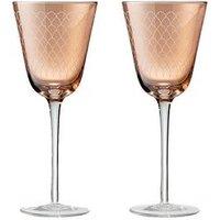 Product photograph showing Denby Monsoon Mandala Wine Glasses Ndash Set Of 2
