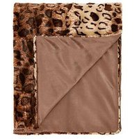 Product photograph showing Cascade Home Leopard Luxury Textured Throw - Natural