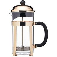 Product photograph showing Le Xpress Brass Finish Stainless Steel 8-cup French Press Cafeti Egrave Re