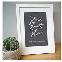 Product photograph showing Personalised Home Sweet Home A4 Framed Print