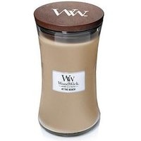 Product photograph showing Woodwick Large Hourglass Candle Ndash At The Beach