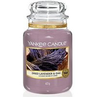Product photograph showing Yankee Candle Dried Lavender Amp Oak Large Jar Candle