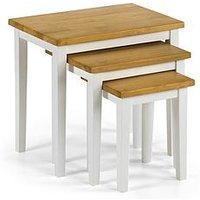 Product photograph showing Julian Bowen Alden Nest Of Tables