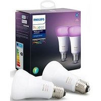 Product photograph showing Philips Hue Bt - White And Colour Ambiance E27 - E27 Twin Pack Bulb